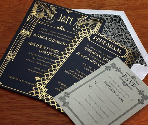 gatsby wedding invite
