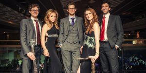 Modern London swing band with sax