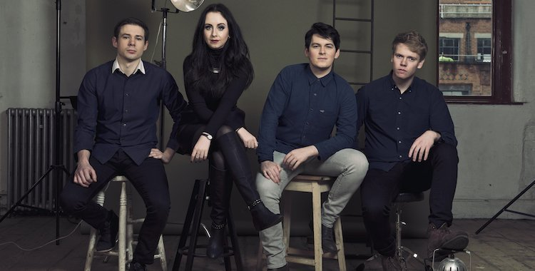Lake District based wedding band on stools