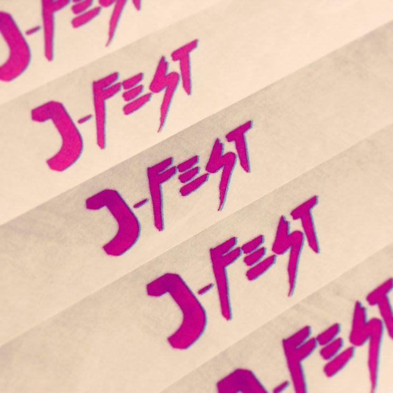j-fest 80's party wristbands