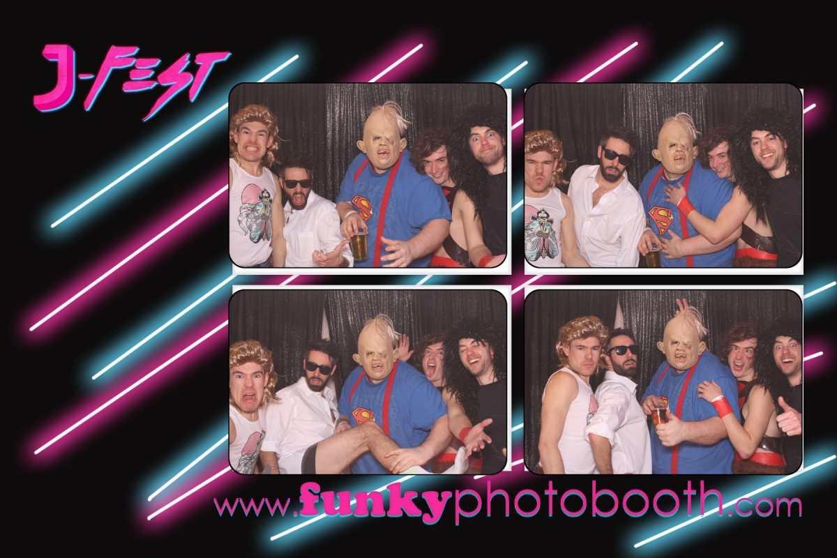 80s fancy dress photo booth