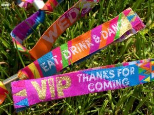 wristbands for wedding guests