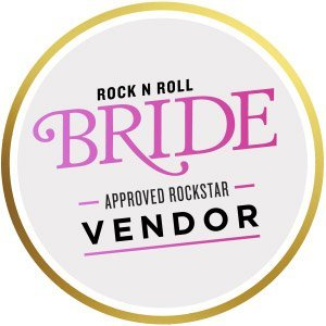 Rock n roll bride approved badge