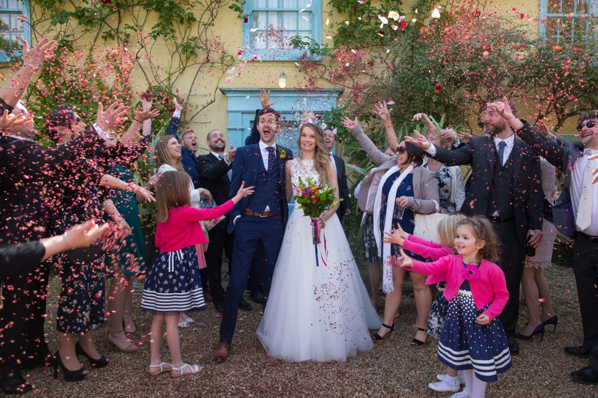 confetti wedding