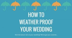 how to deal with rain on your wedding day