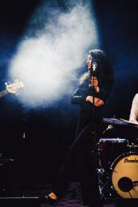 Vocalist on stage