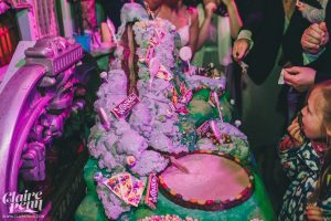 wedding willy wonka sweets table and chocolate river