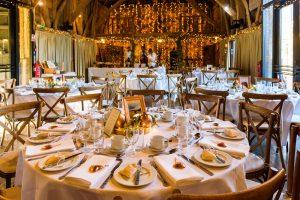 barn wedding table decoration